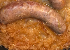 Bootleg Rum Runner 6 brats and sauerkraut
