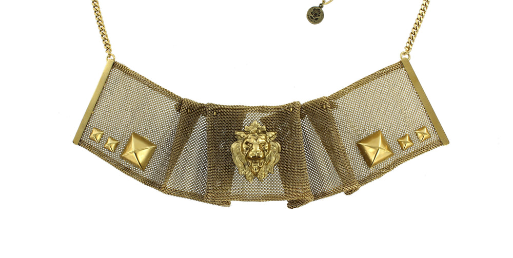 COLLIER COLERETTE LION