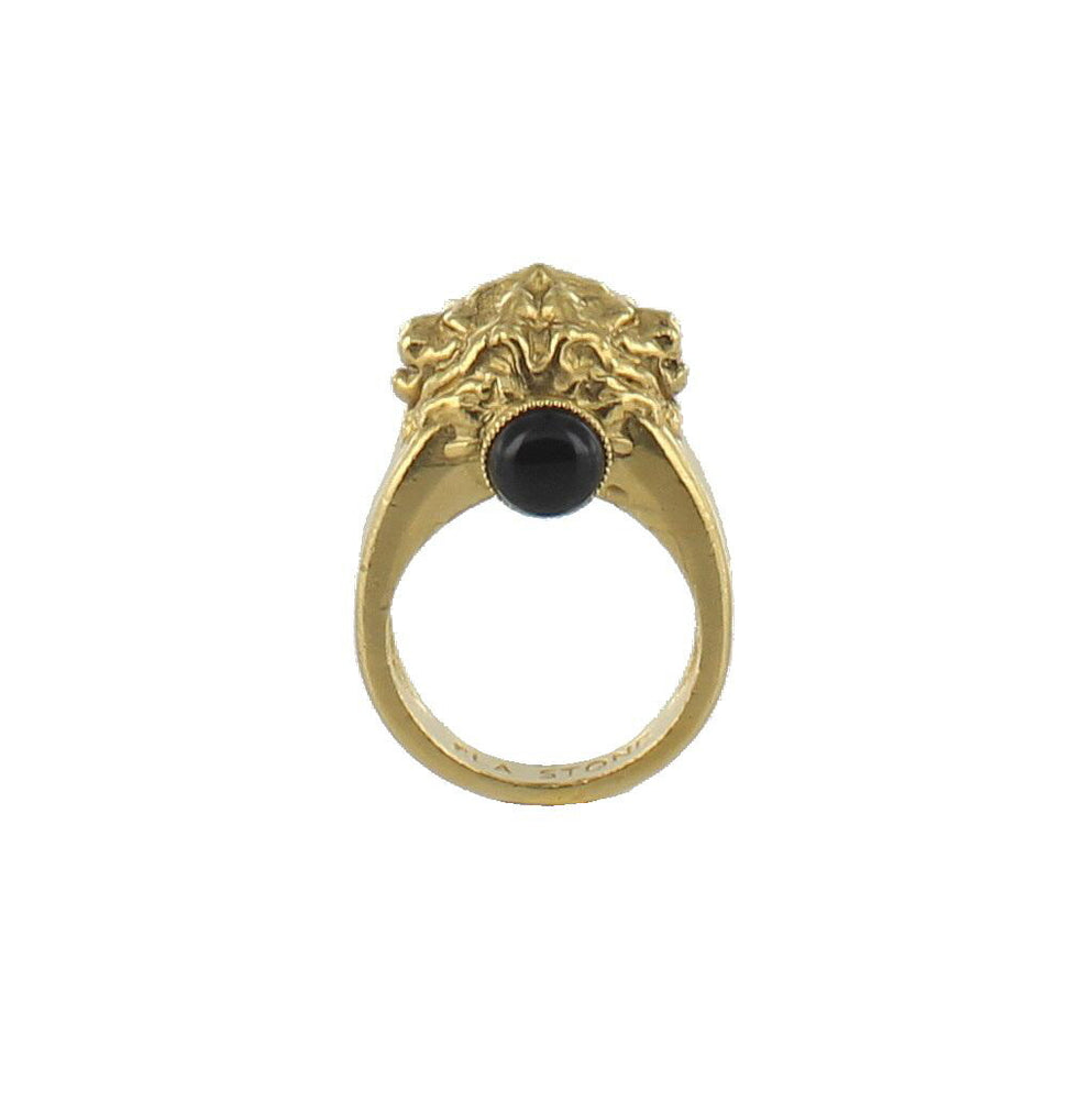 BAGUE ARIE DOREE GM ONYX
