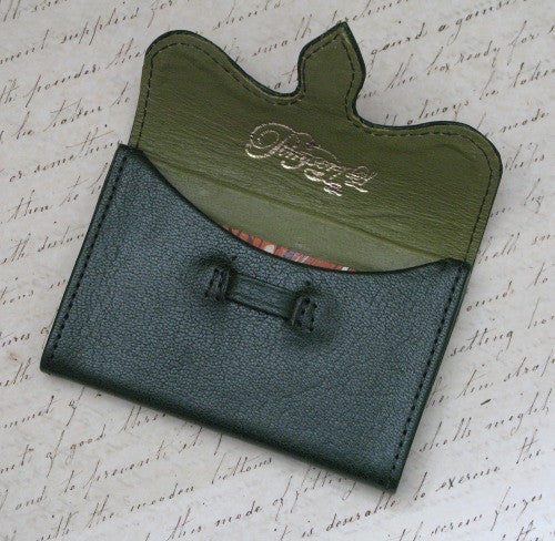 Pimpernel Clothing Man or Woman's Luxury Leather Business Card Holder in Forest Green