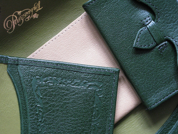 Pimpernel Clothing Man or Woman's Luxury Leather Wallet/Purse in Forest Green