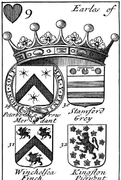 Pimpernel Clothing Arms Of English Peers Playing Cards