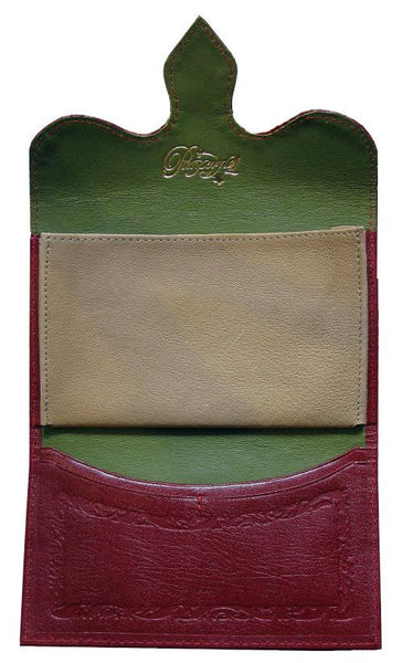 Pimpernel Clothing Man or Woman's Luxury Leather Wallet/Purse in Scarlet