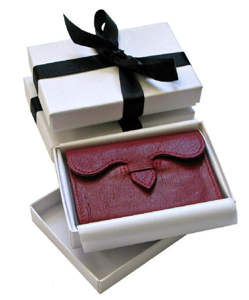 Pimpernel Clothing Man or Woman's Luxury Leather Business Card Holder in Scarlet