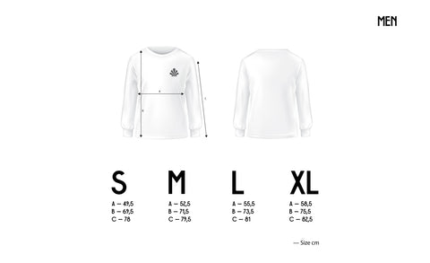 infographie guide des tailles sweatshirt homme