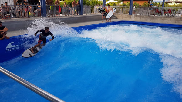 wave pool surfing