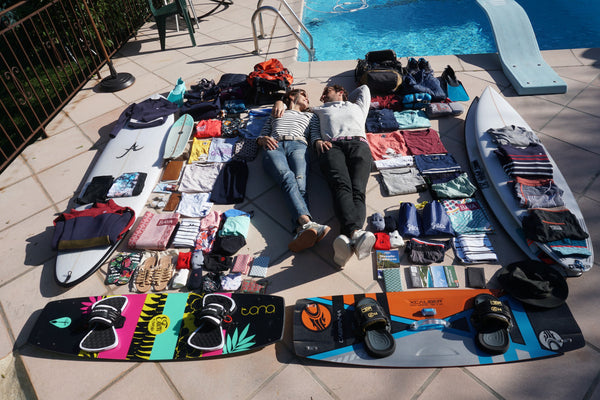 suitcase surf trip saint jacques wetsuits