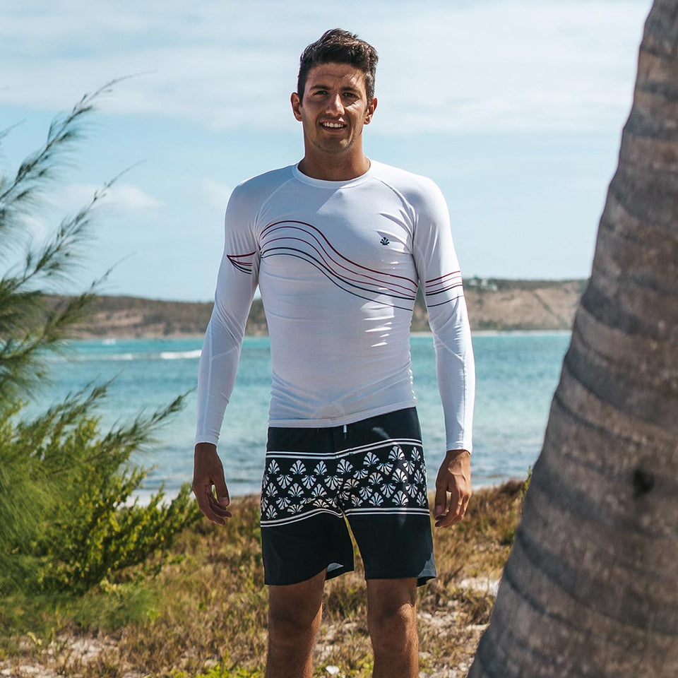 Lycra long sleeve Men UV Protection waves