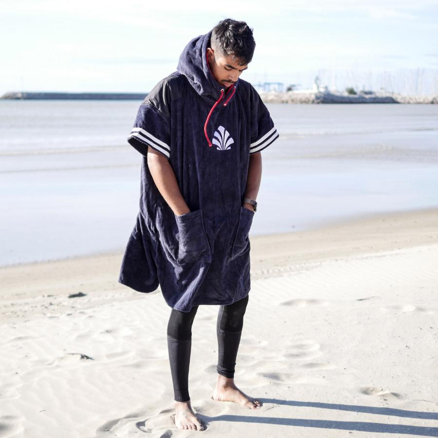 homme poncho surf vianney