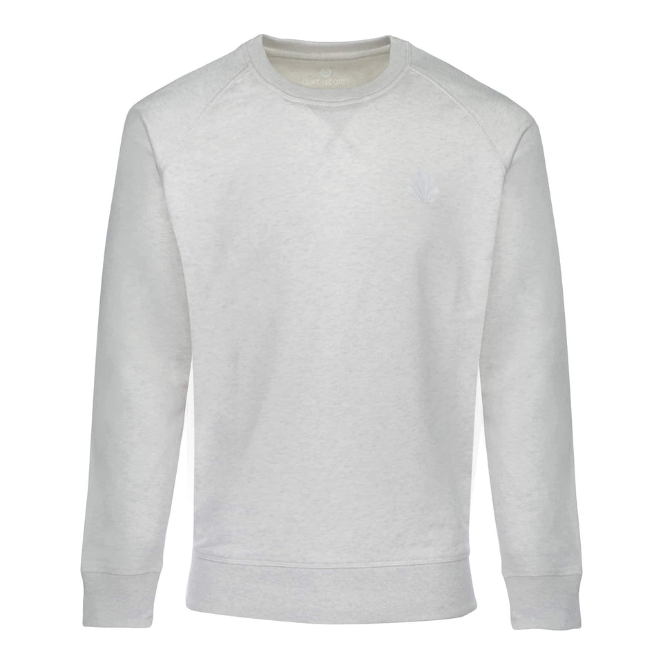 Sweat-shirt Homme Denim Bio Blanc - Surf Paddle Kite Voile - Saint Jacques Wetsuits