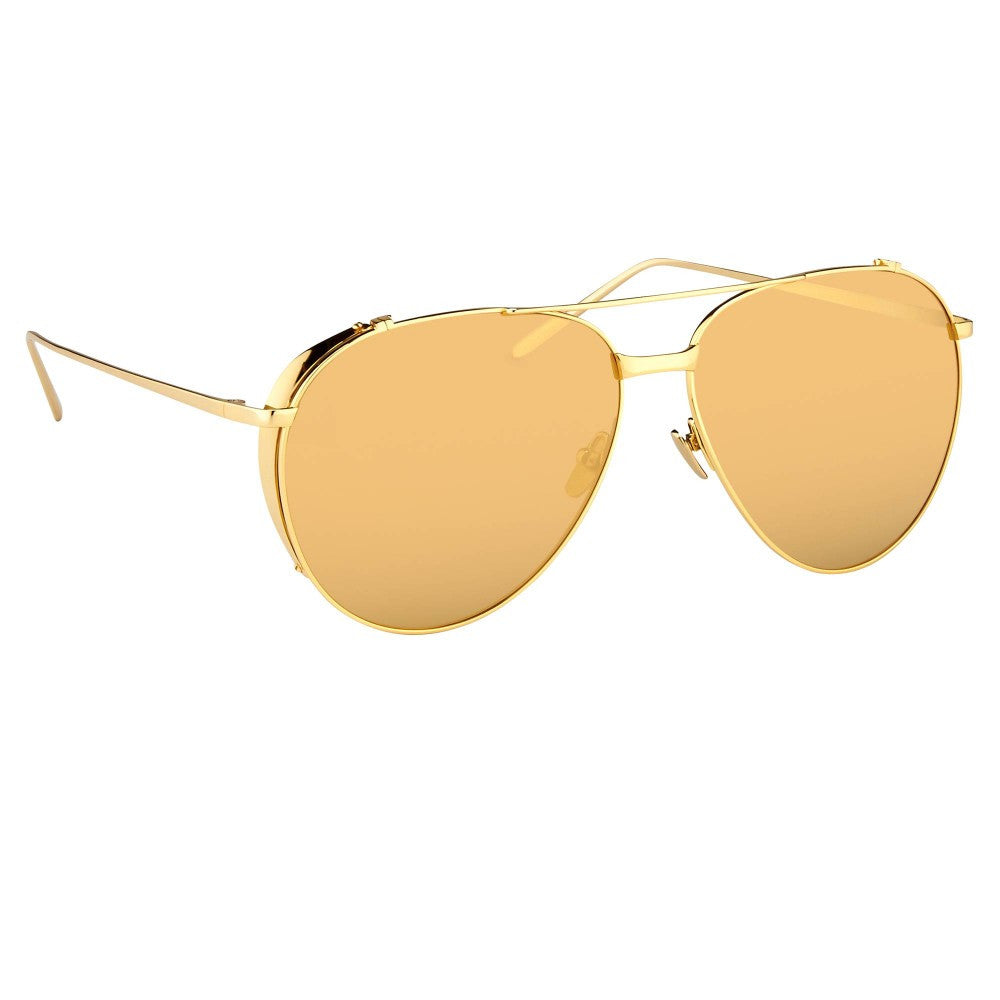 ab0136efa86 425 C1 Aviator Sunglasses in Yellow Gold
