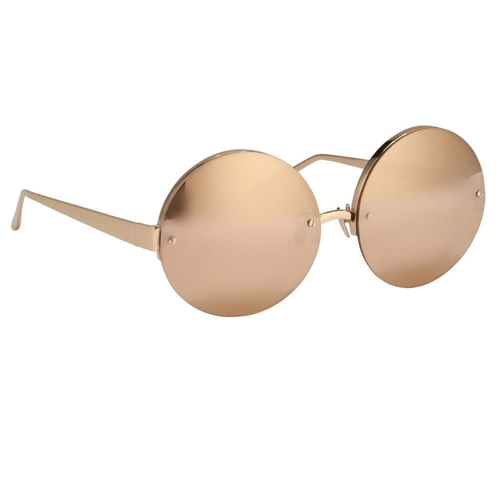 488287d2c6a0 Buy Online 313-Rose Gold Luxurious Round Glasses