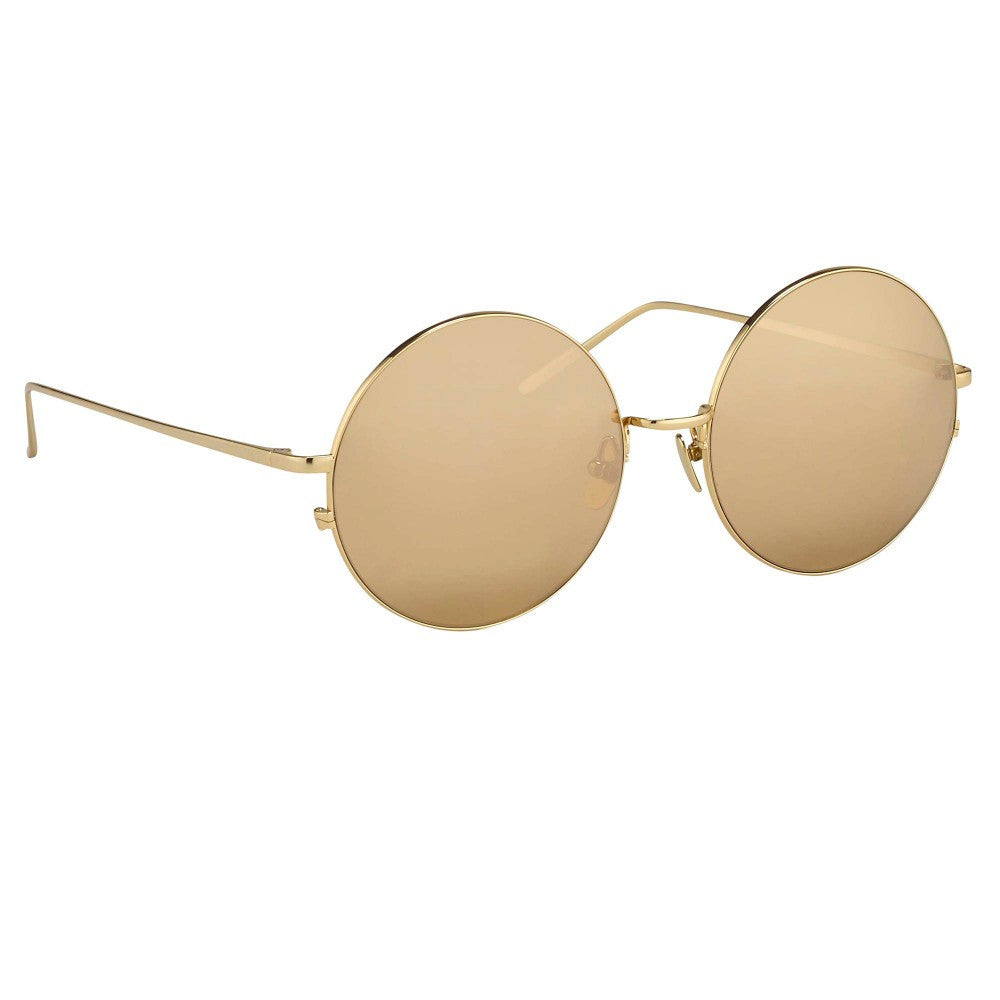 b37f96c14d0 343-Gold   Gold Lens Perfectly Rounded Slim Wire Frames