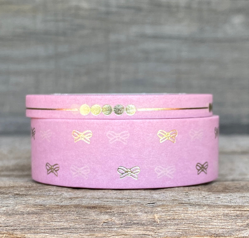 WASHI TAPE Tiny Lola Bow - Set of 2 - Blush
