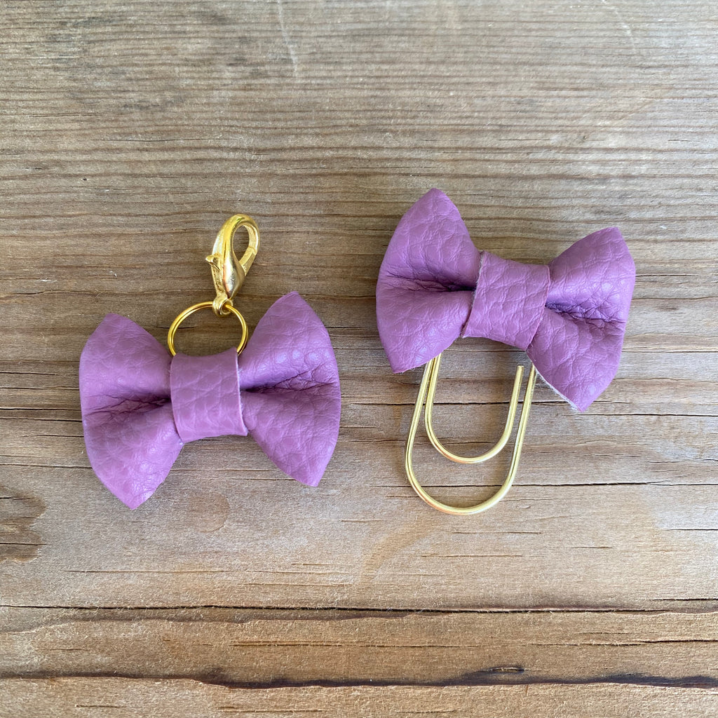 MINI BOW Iris Bow Paperclip or Bow Clasp