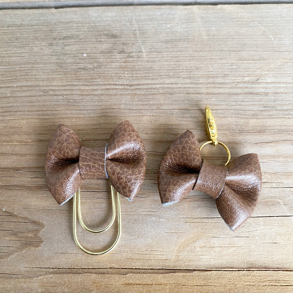 LILY BOW Gingerbread Bow Paperclip or Bow Clasp