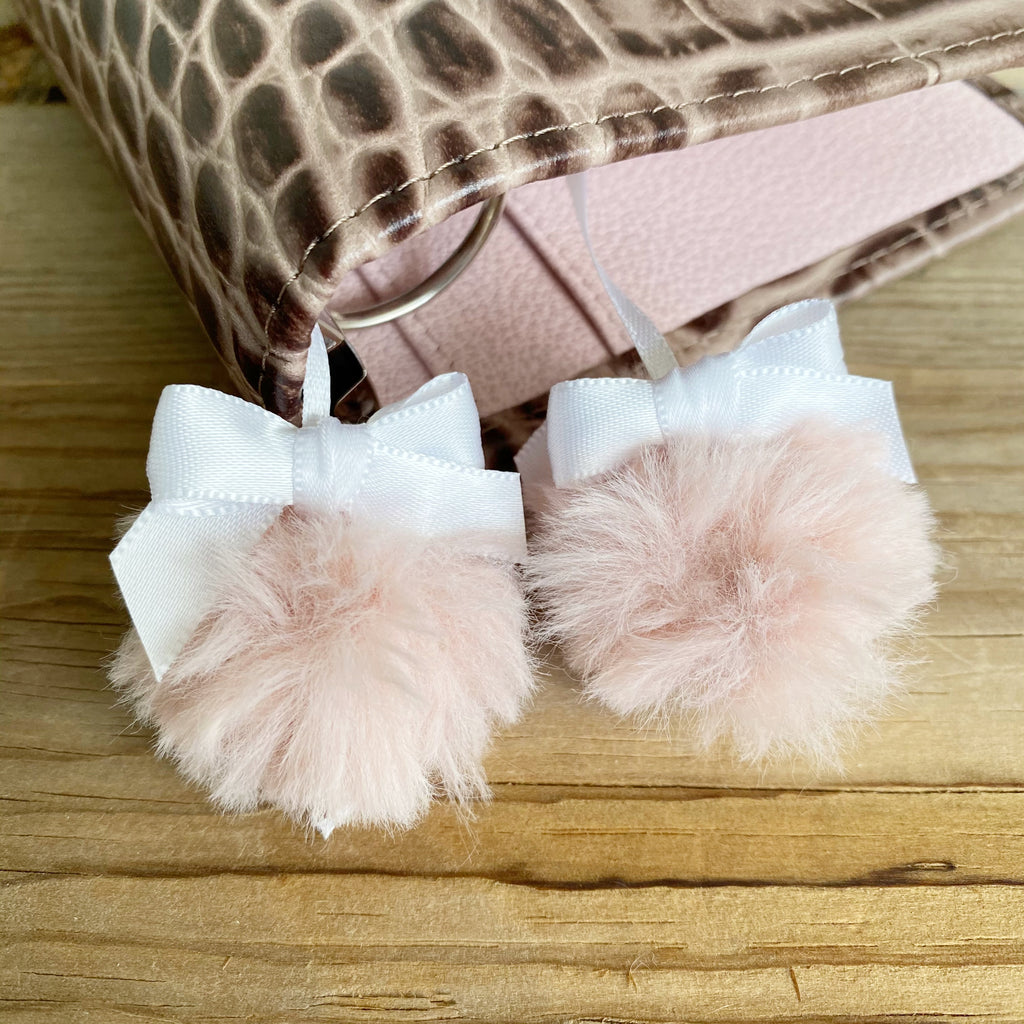 PLANNER TAIL or BOOKMARK Pink Poodle Puffy Faux Fur Pom