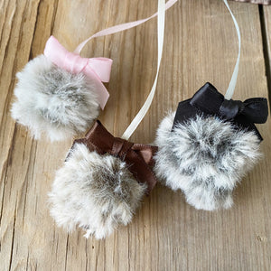 PLANNER TAIL or BOOKMARK Chow Chow Puffy Faux Fur Pom