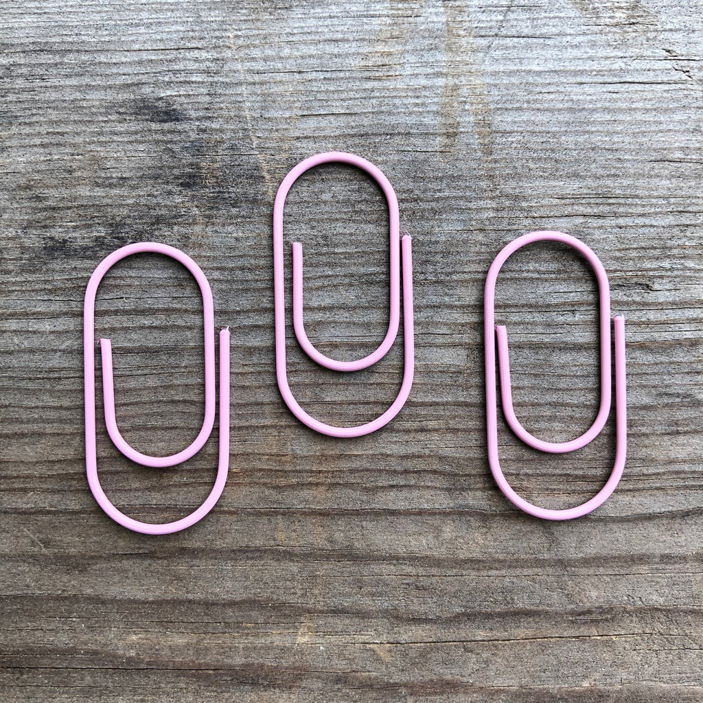 5-PACK Pink Mini Wide Paperclip