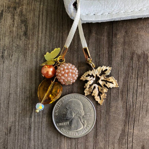 PLANNER TAIL or BOOKMARK SMALL Maple Leaf Charm