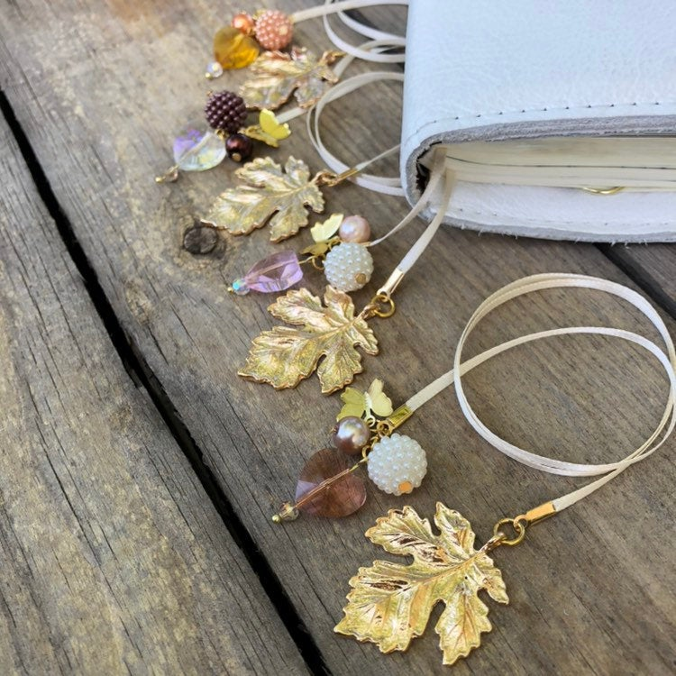 PLANNER TAIL or BOOKMARK LARGE Maple Leaf Charm