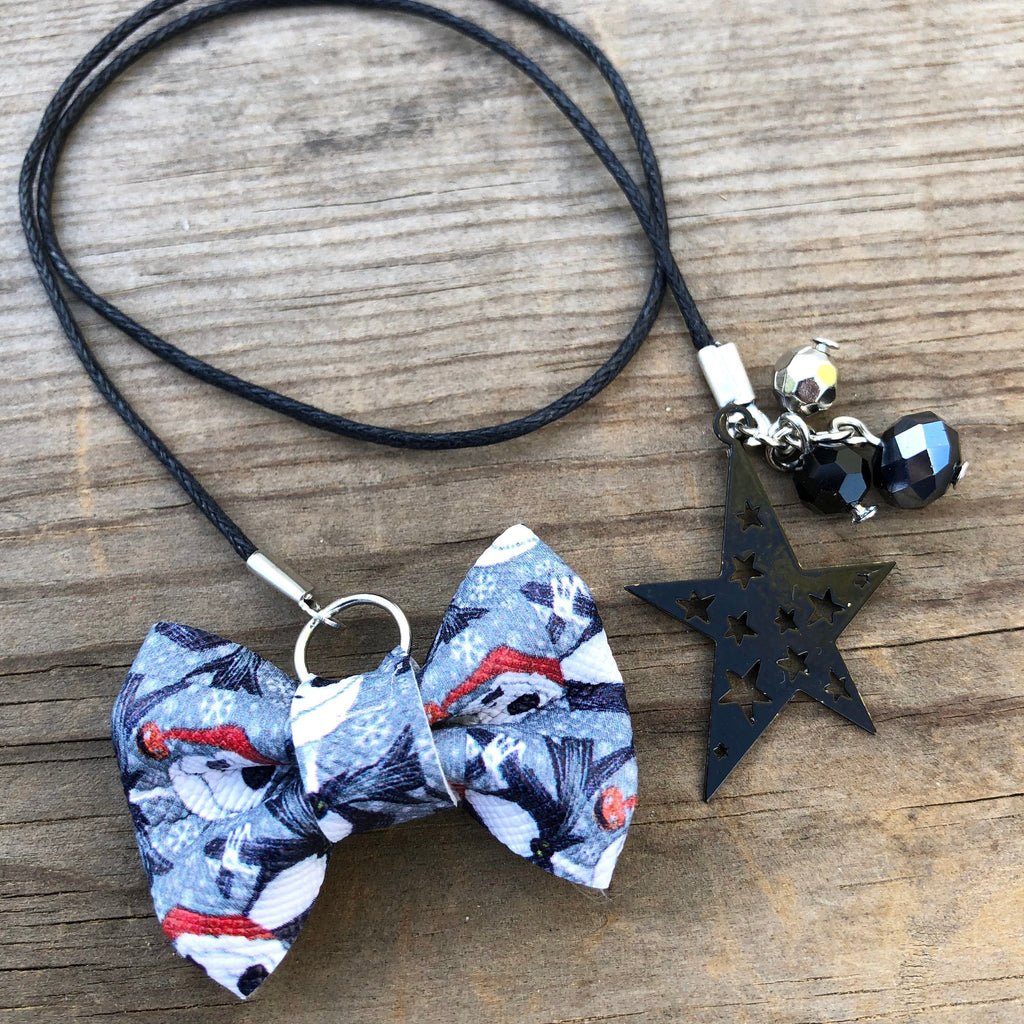PLANNER TAIL or BOOKMARK MINI BOW Santa Jack Bow