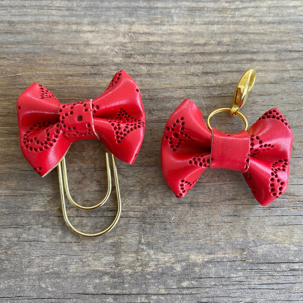 MINI BOW Dame Chic Collection Red Empreinte Bow Paperclip or Clasp