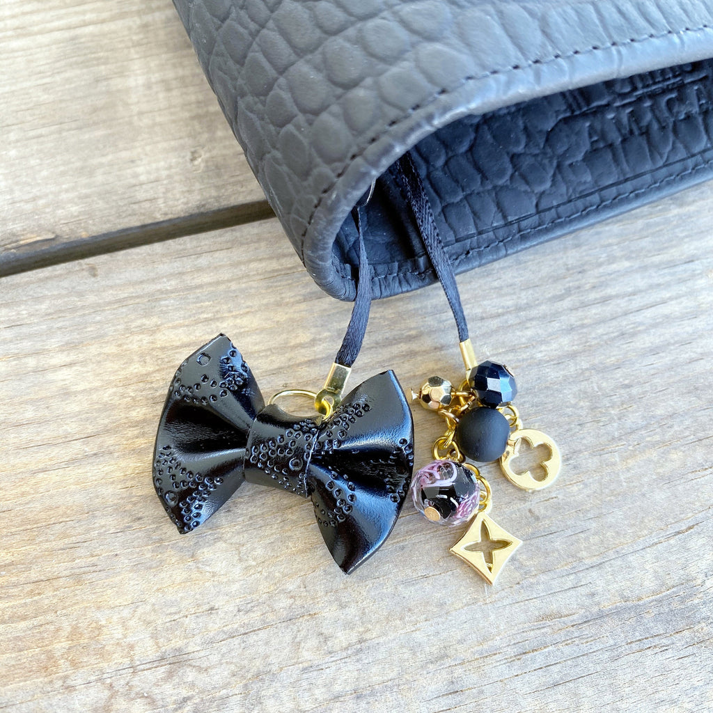 PLANNER TAIL or BOOKMARK LILY BOW Dame Chic Collection Black Empreinte Bow