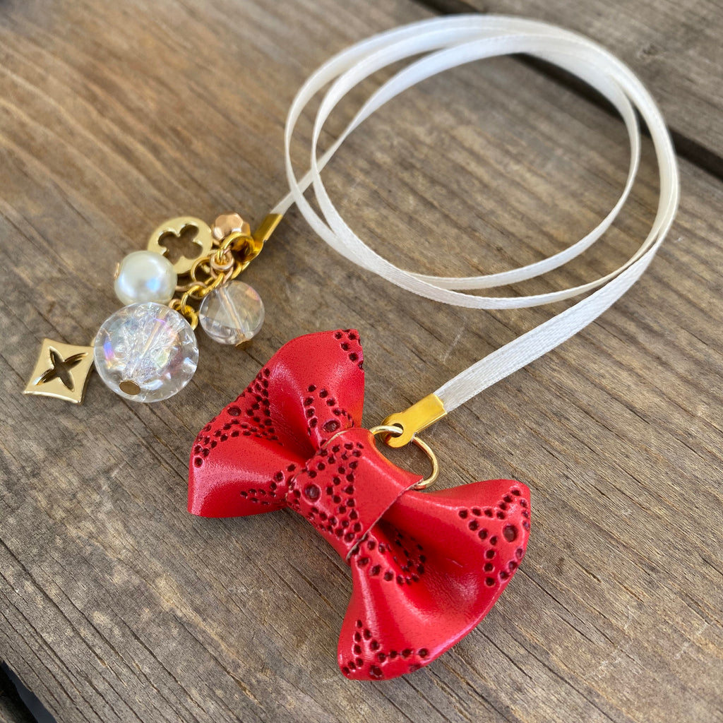 PLANNER TAIL or BOOKMARK MINI BOW Dame Chic Collection Red Empreinte Bow