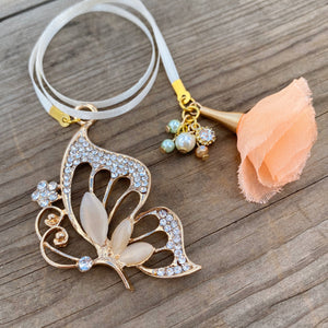 PLANNER TAIL or BOOKMARK LARGE Butterfly Charm