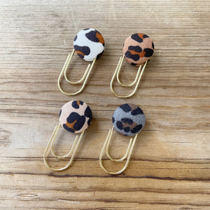 BUTTON POP Leopard Button Paperclip
