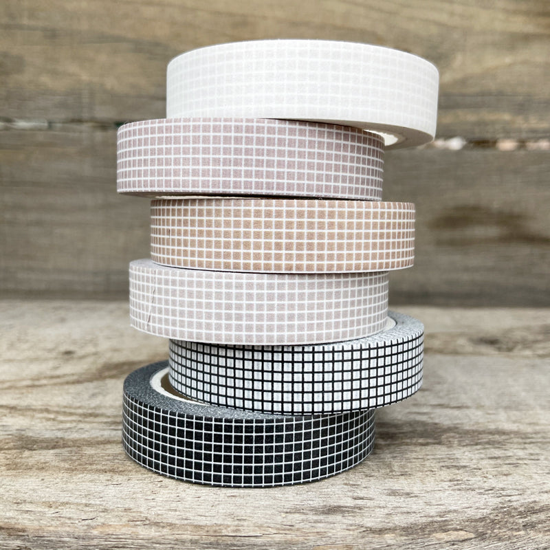 WASHI TAPE 10MM Tiny Grid