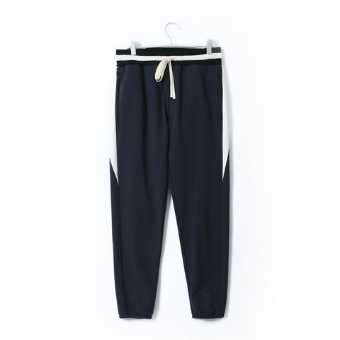 DRAWSTRING TRACK PANTS NAVY