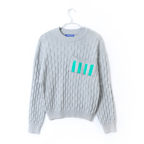 HEAVEY COTTON SWEATER IN GREY