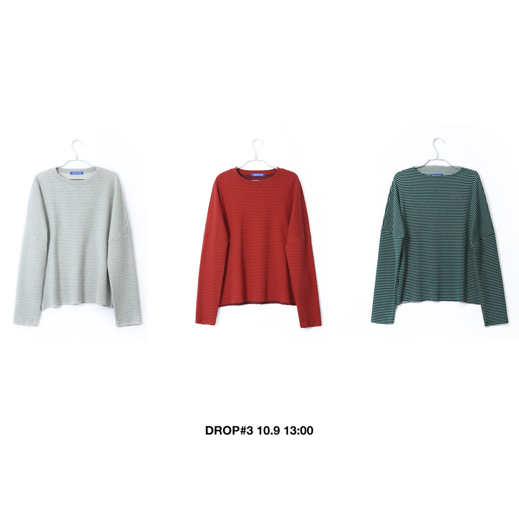 EXTRA HEAVY COTTON LONG SLEEVE STRIPED SHIRT IN 3 COLORS