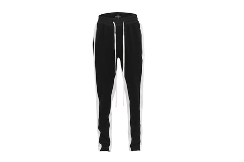 STRIPED TRACK PANTS BLACK/WHITE