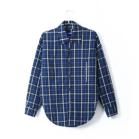PADDED PLAID FLANNEL SHIRT