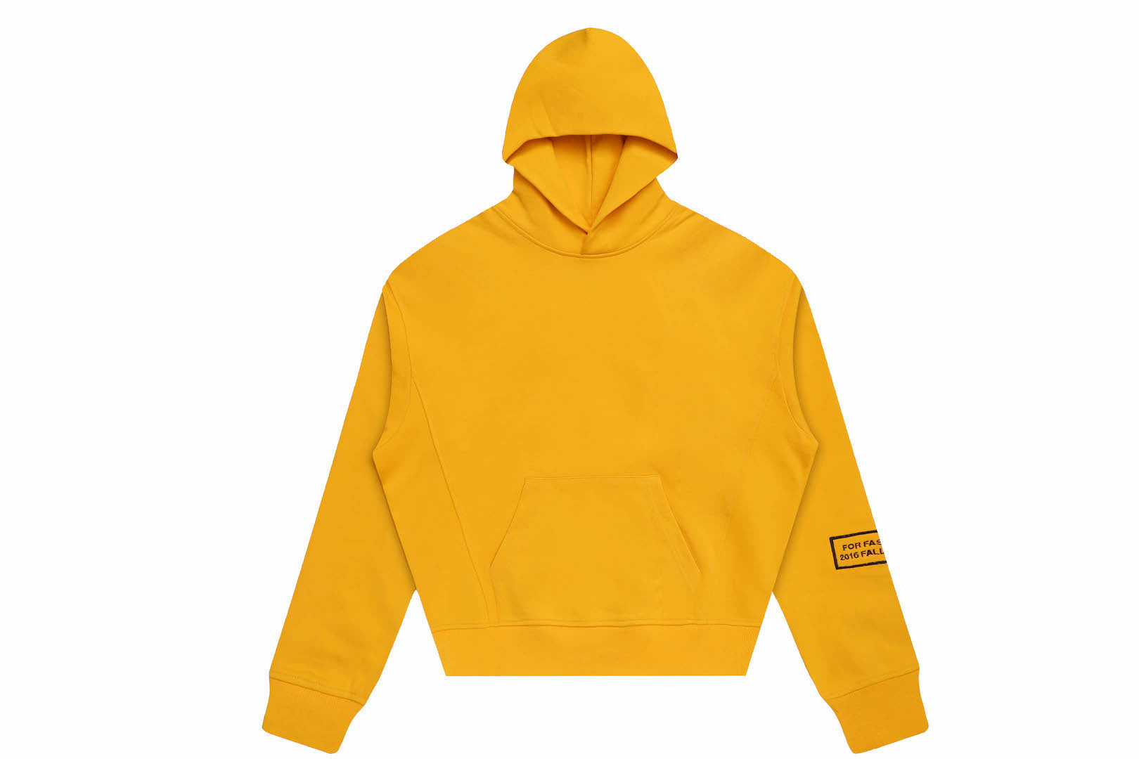 OVERSIZED HEAVY COTTON HOODIE YELLOW