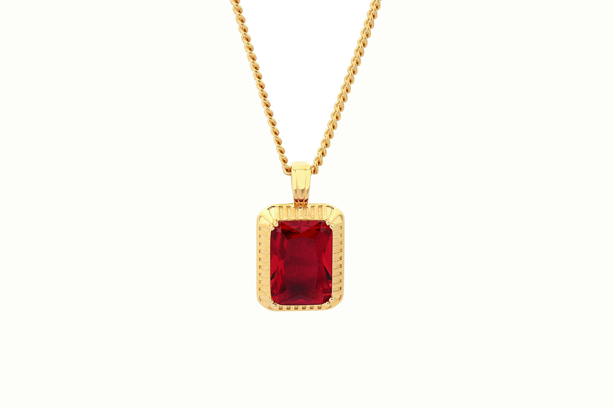 RED RUBY GOLD NECKLACE