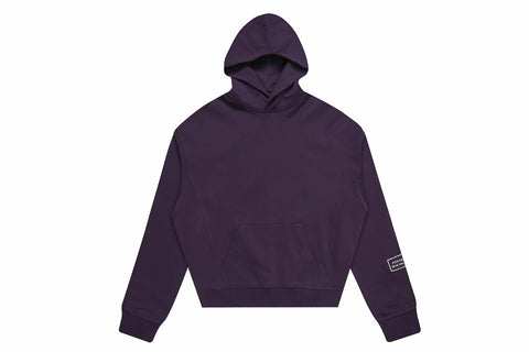 OVERSIZED HEAVY COTTON HOODIE PURPLE