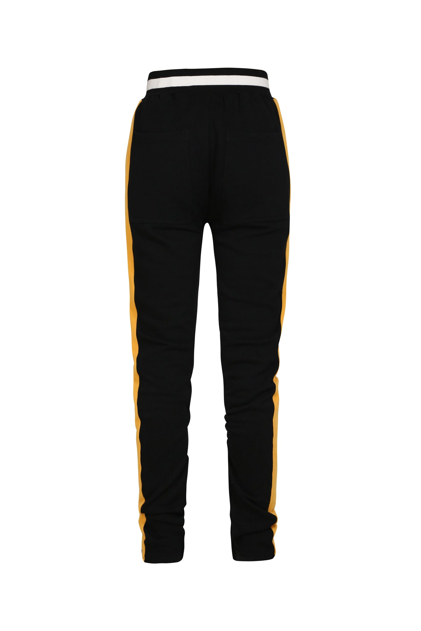 STRIPED TRACK PANTS BLACK/YELLOW