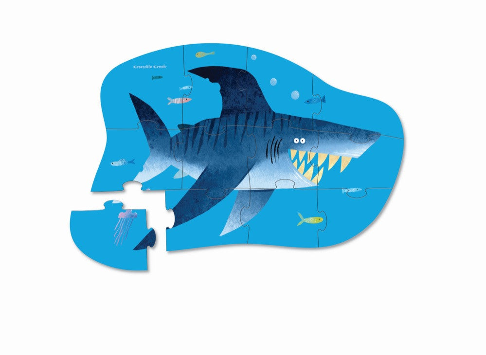 Crocodile Creek - 12Pc Mini Puzzle - Shark City