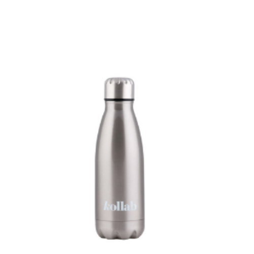 Kollab - Reusable 350ml Drink Bottle Flask - Silver