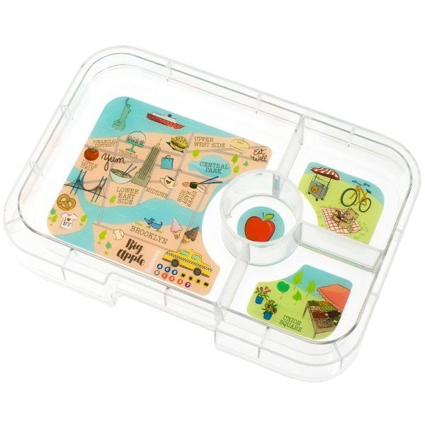 Yumbox Tapas Interchangeable Tray 4 Section - New York