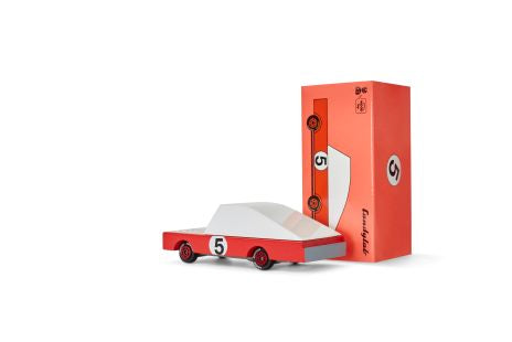 Candylab Mini Wooden Vehicle - Red Racer #5