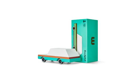 Candylab Mini Wooden Vehicle - Teal Wagon