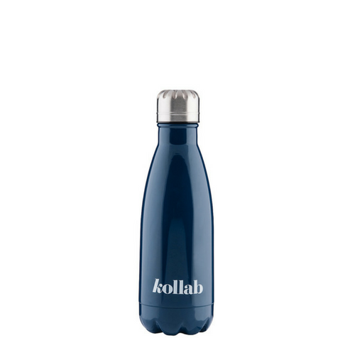 Kollab - Reusable 350ml Drink Bottle Flask - Shiny Navy