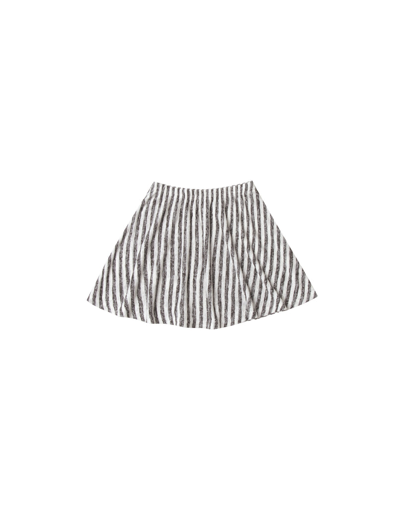 Rylee & Cru - Striped Mini Skirt - Ivory/Black