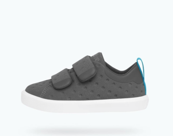 Native Shoes - Monaco Velcro Child  - Dublin Grey / Shell White