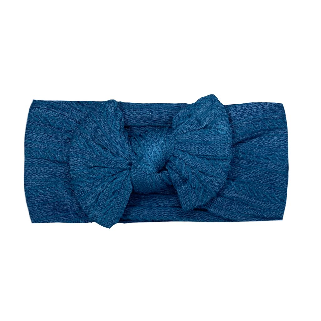Arch N Ollie- Cable Knot Head wrap- Navy